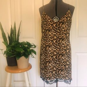 SALE! 2 for $25 Leopard Print Slip Dress